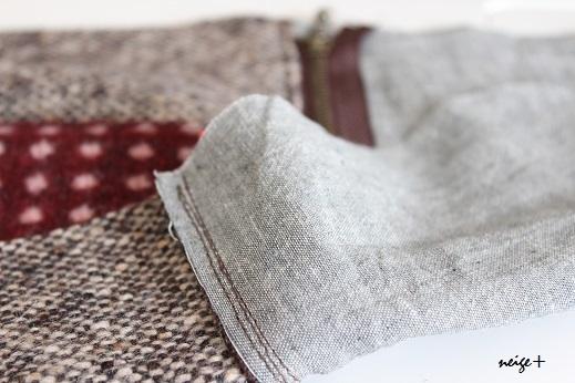 仕上がりが1番綺麗な内布付ファスナーポーチの作り方(マロン巾着アレンジ)_f0023333_11080128.jpg