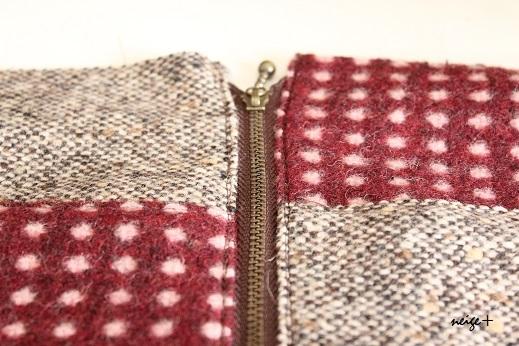 仕上がりが1番綺麗な内布付ファスナーポーチの作り方(マロン巾着アレンジ)_f0023333_11091775.jpg