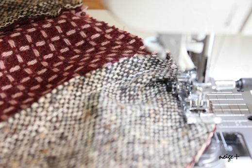仕上がりが1番綺麗な内布付ファスナーポーチの作り方(マロン巾着アレンジ)_f0023333_11165409.jpg