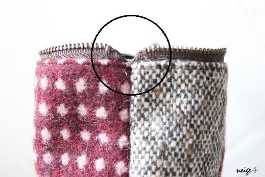 仕上がりが1番綺麗な内布付ファスナーポーチの作り方(マロン巾着アレンジ)_f0023333_11210342.jpg