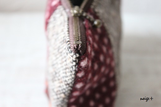 仕上がりが1番綺麗な内布付ファスナーポーチの作り方(マロン巾着アレンジ)_f0023333_11214406.jpg