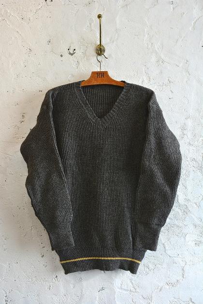 Swedish navy 40\'s v-neck knit dead stock_f0226051_15283344.jpg