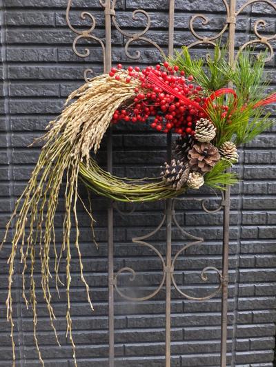 オークリーフ(今年のお正月飾り)_f0049672_1727265.jpg
