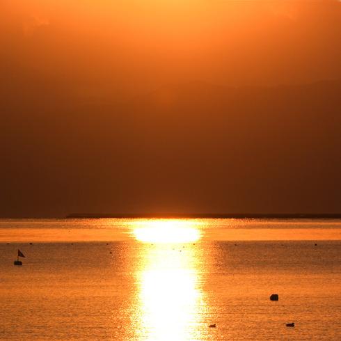 休日の朝早く日の出と...。_f0099102_15101193.jpg