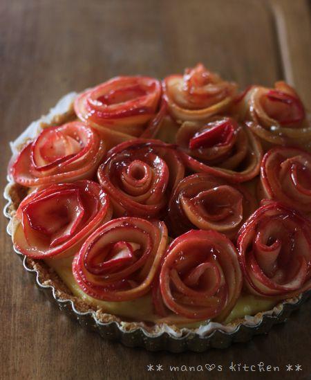 薔薇のアップルタルト♪_c0139375_1614596.jpg