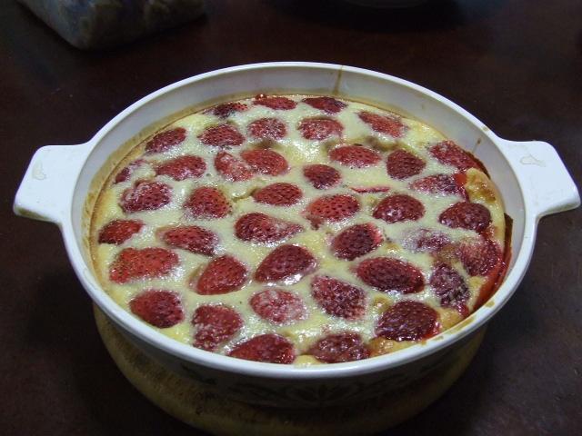 苺のクラフティ_f0019498_16284382.jpg
