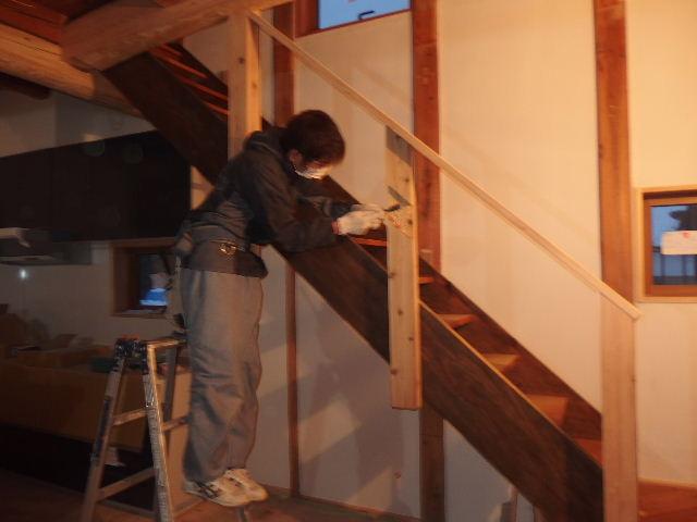 納屋のリフォーム 工事進行中です。_f0105112_703223.jpg