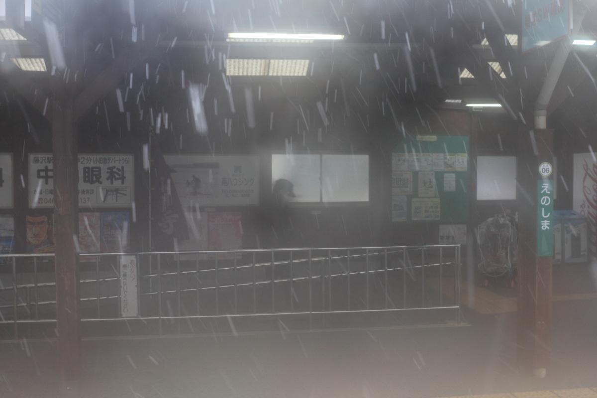 江ノ島  江ノ電細雪_b0061717_142532.jpg