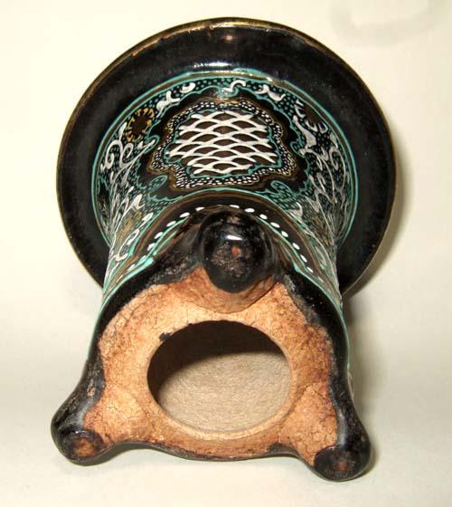 楽焼鉢の贋作や繕い鉢                No.1464_d0103457_21471523.jpg