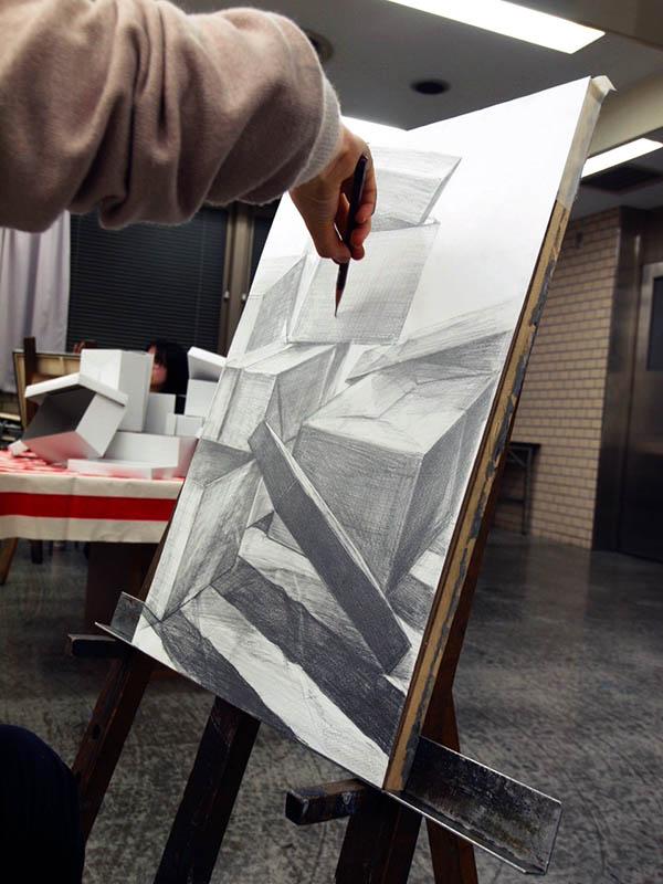 土日コース3学期スタート/デザイン・工芸科 私大コース_f0227963_1757199.jpg