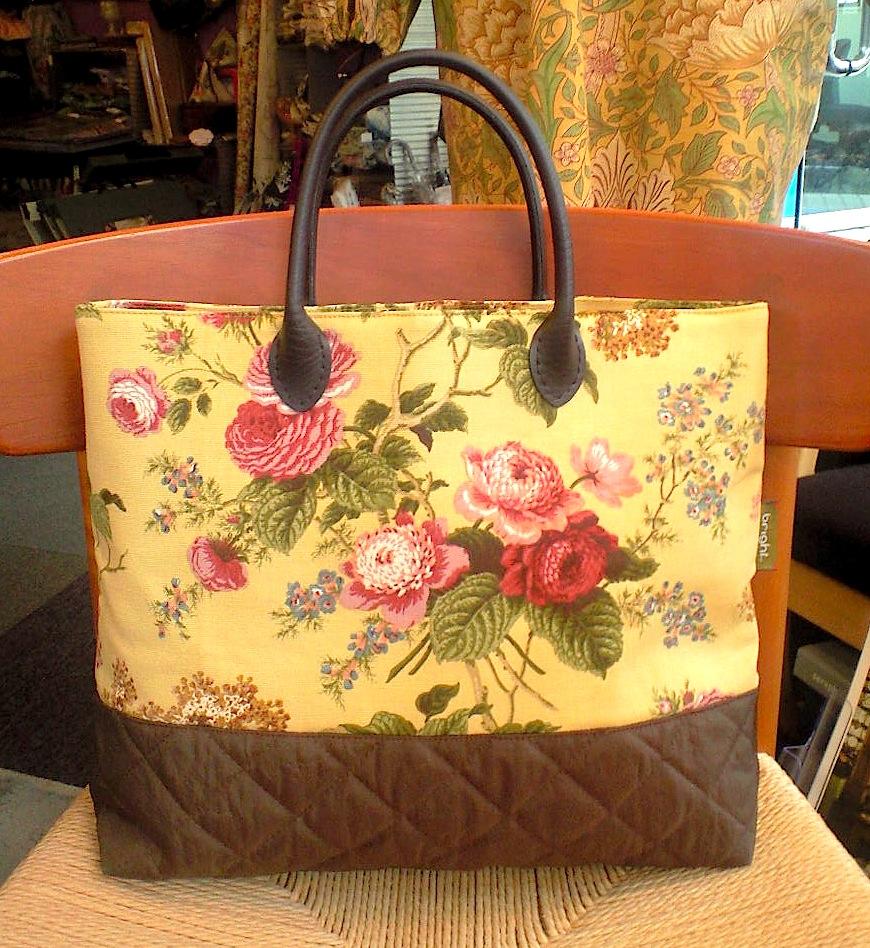 US花柄とキルティングのバッグ_c0157866_16591841.jpg