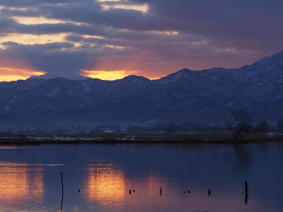 福島潟の夜明_e0214470_20571556.jpg