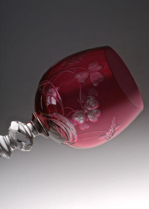 Baccarat Clover グラヴュール RED glass_c0108595_23565238.jpg