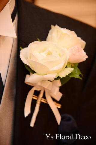 カップ咲のバラとライラックのブーケ ホテルミラコスタさんへ_b0113510_15481793.jpg