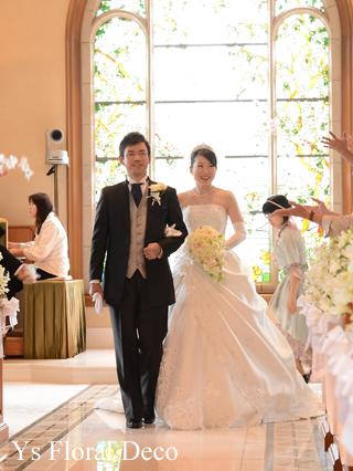 カップ咲のバラとライラックのブーケ ホテルミラコスタさんへ_b0113510_15482290.jpg