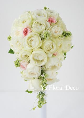 カップ咲のバラとライラックのブーケ ホテルミラコスタさんへ_b0113510_15483356.jpg