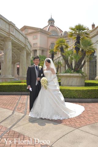 カップ咲のバラとライラックのブーケ ホテルミラコスタさんへ_b0113510_1548692.jpg