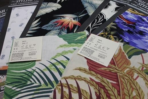 ハワイ柄のカーテン_e0133255_21334499.jpg