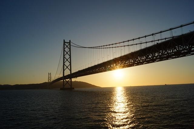 須磨浦公園からの瀬戸大橋と夕日の絶景、日本一の夕日百景_d0181492_12322280.jpg
