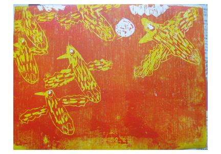 ほりすすみ版画に挑戦・小学生クラス(上高野)_f0211514_12153445.jpg