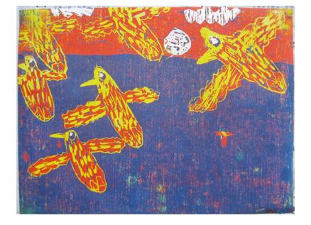 ほりすすみ版画に挑戦・小学生クラス(上高野)_f0211514_12162322.jpg