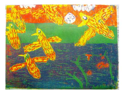 ほりすすみ版画に挑戦・小学生クラス(上高野)_f0211514_12171261.jpg