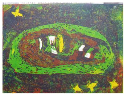 ほりすすみ版画に挑戦・小学生クラス(上高野)_f0211514_12293389.jpg