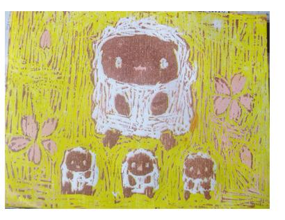 ほりすすみ版画に挑戦・小学生クラス(上高野)_f0211514_12302240.jpg