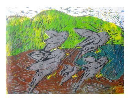 ほりすすみ版画に挑戦・小学生クラス(上高野)_f0211514_12303741.jpg
