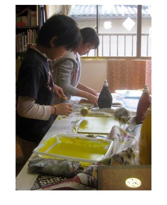 ほりすすみ版画に挑戦・小学生クラス(上高野)_f0211514_1264375.jpg