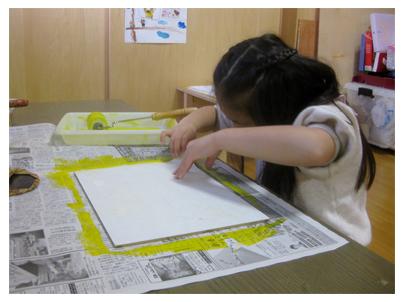 ほりすすみ版画に挑戦・小学生クラス(上高野)_f0211514_1319176.jpg