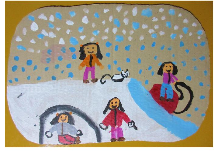 雪降りの日・小学生クラス(比良)_f0211514_1414068.jpg