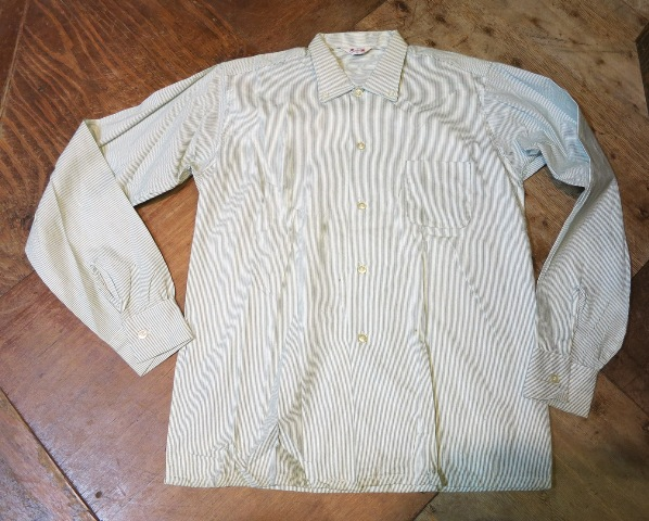 1/7(土)入荷!デッドストック ストライプB.Dシャツ!60'Sシャツ!2点!_c0144020_1531620.jpg