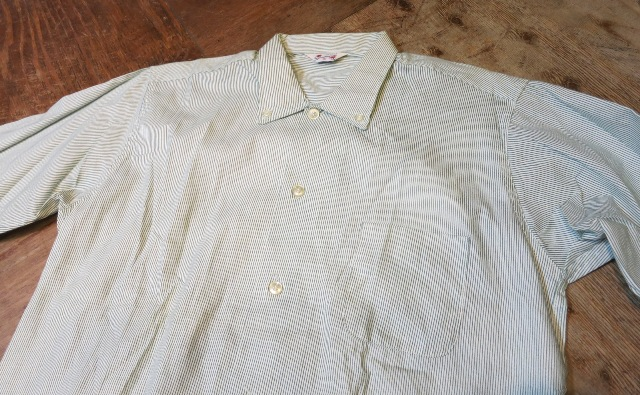 1/7(土)入荷!デッドストック ストライプB.Dシャツ!60'Sシャツ!2点!_c0144020_1531815.jpg