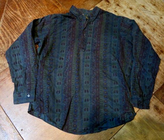 1/7(土)入荷!60'S バティックプリント プルオーバーB.Dシャツ!_c0144020_15324177.jpg