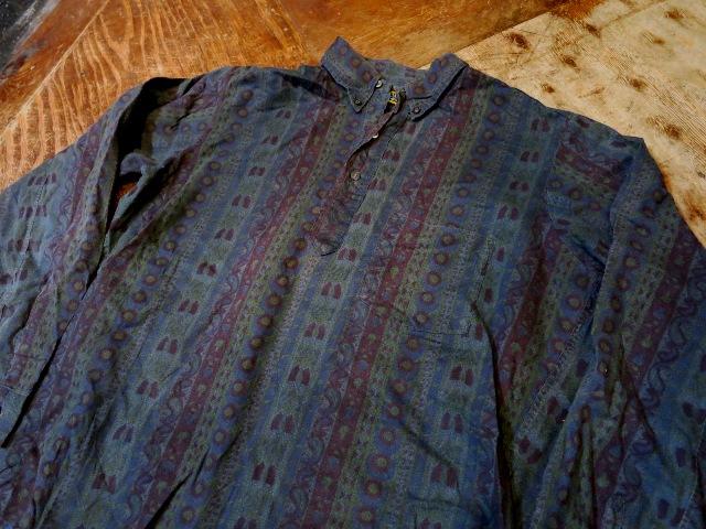 1/7(土)入荷!60'S バティックプリント プルオーバーB.Dシャツ!_c0144020_15324429.jpg