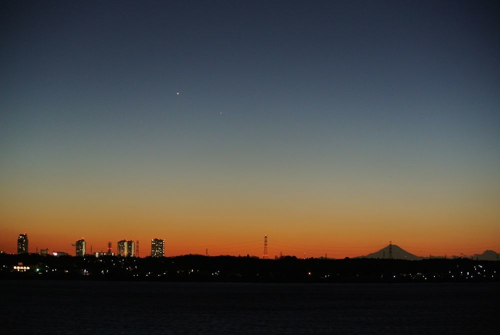 金星と水星と富士山(2015年1月17日)_e0089232_21074848.jpg