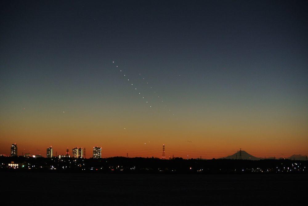 金星と水星と富士山(2015年1月17日)_e0089232_21075819.jpg