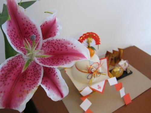 日本橋で買ってきた漆のお椀で、今年のお雑煮・・_d0240098_22312242.jpg