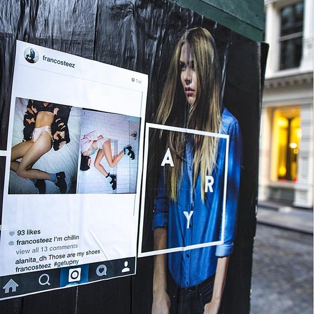 NYの写真&メッセージを紙に印刷して撮影現場に貼ってくる謎の集団、Get Up NY_b0007805_8424180.jpg