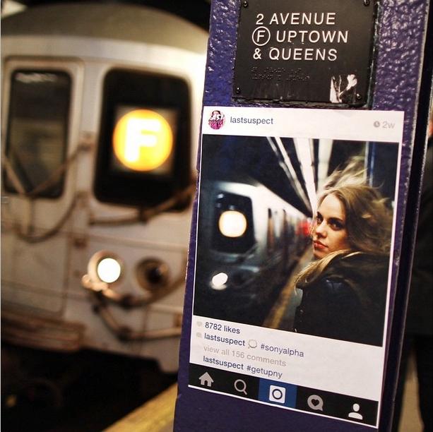 NYの写真&メッセージを紙に印刷して撮影現場に貼ってくる謎の集団、Get Up NY_b0007805_84387.jpg