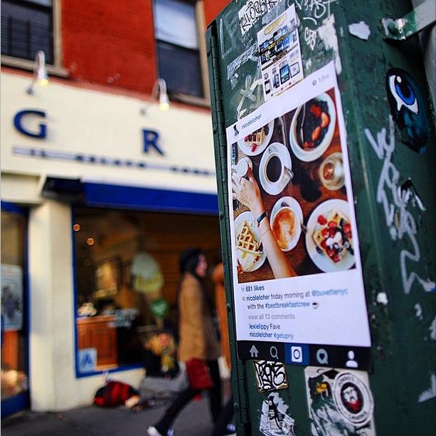 NYの写真&メッセージを紙に印刷して撮影現場に貼ってくる謎の集団、Get Up NY_b0007805_8442964.jpg