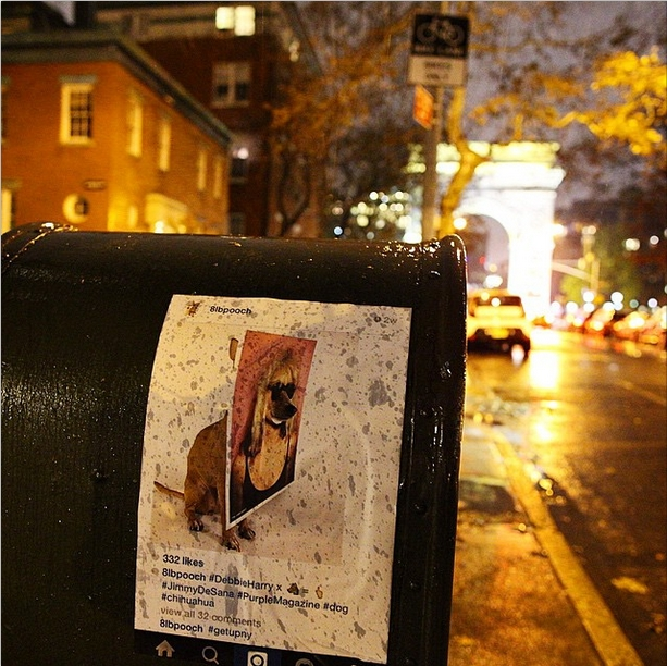 NYの写真&メッセージを紙に印刷して撮影現場に貼ってくる謎の集団、Get Up NY_b0007805_8451772.jpg