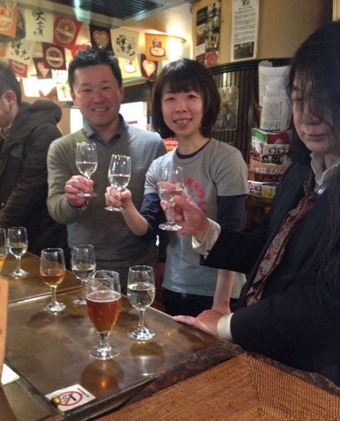 【@BERG_SHINJUKU: 【天青・湘南ビールで乾杯!】杜氏・五十嵐さん来店中♪市原&マーチさんと共に♪一緒に乾杯&お酒のお話しましょう〜!15時ごろまでの予定です♪ ( ´ ▽ ` )ノ♪_c0069047_1421233.jpg