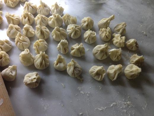 粉物週間:鶏挽肉の包み蒸し、辛し醤油。_a0136671_5213836.jpg