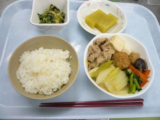 1/19 豚みそちゃんこ鍋_a0154110_9484236.jpg