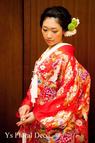 和装のヘッドドレス 赤い色打掛に_b0113510_21452080.jpg