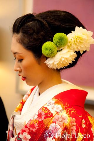 和装のヘッドドレス 赤い色打掛に_b0113510_21453358.jpg