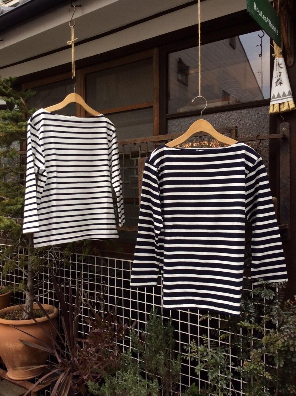 YAECA ヤエカ バスクシャツ White / Navy border_e0248492_18162902.jpg