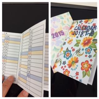 小さな手帳カレンダー♪_f0243509_1515367.jpg